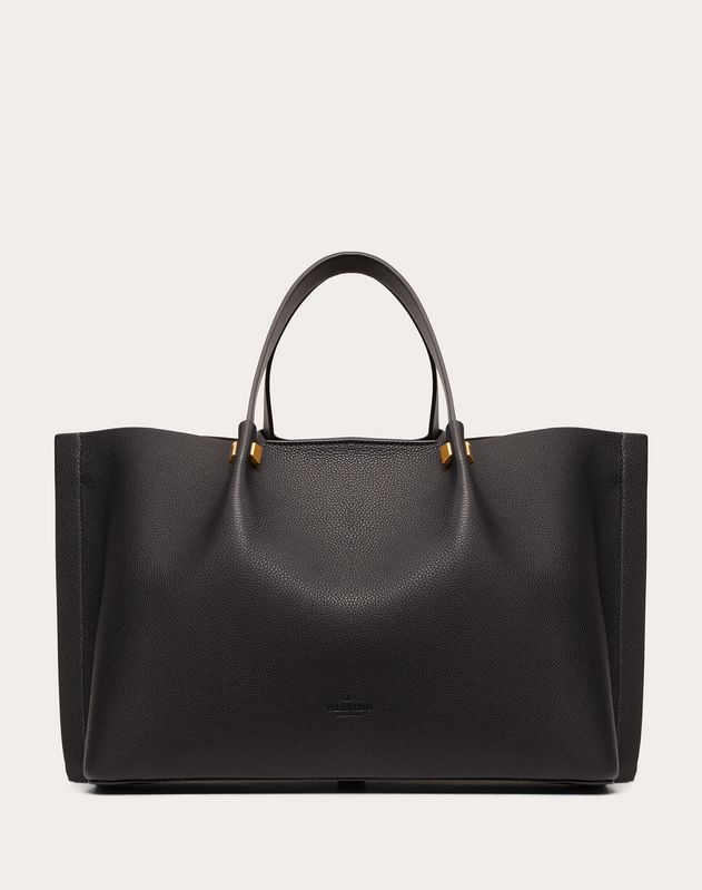 Medium VLOGO Escape Grainy Calfskin Shopper.