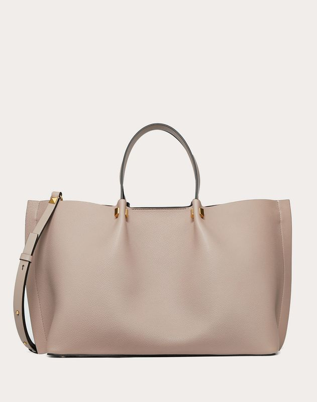 Medium VLOGO Escape Grainy Calfskin Shopper