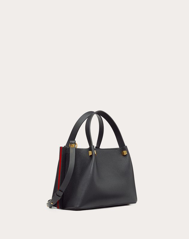 Small VLOGO Escape Grainy Calfskin Shopper