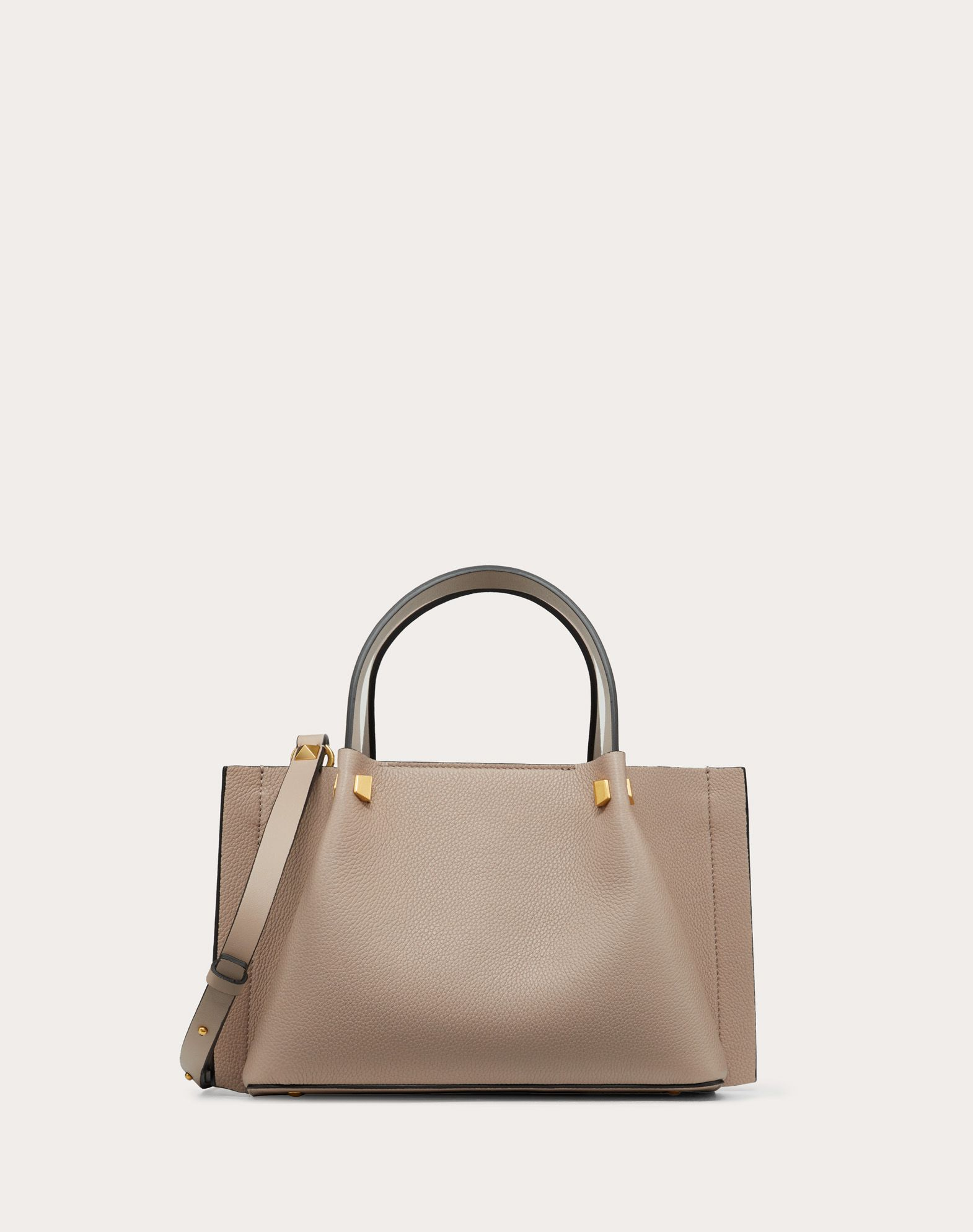 Small VLOGO Escape Grainy Calfskin Shopper.