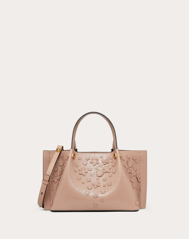 Small VLOGO Escape Shopper with Flower Embellishments