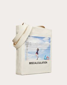 "Shopper with ""Miscalculation"" print in collaboration with Izumi Miyazaki"