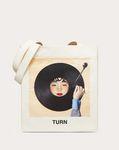 "Shopper with ""Turn"" print in collaboration with Izumi Miyazaki"