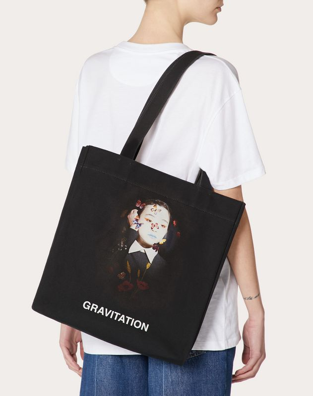 "Shopper with ""Gravitation"" print in collaboration with Izumi Miyazaki"