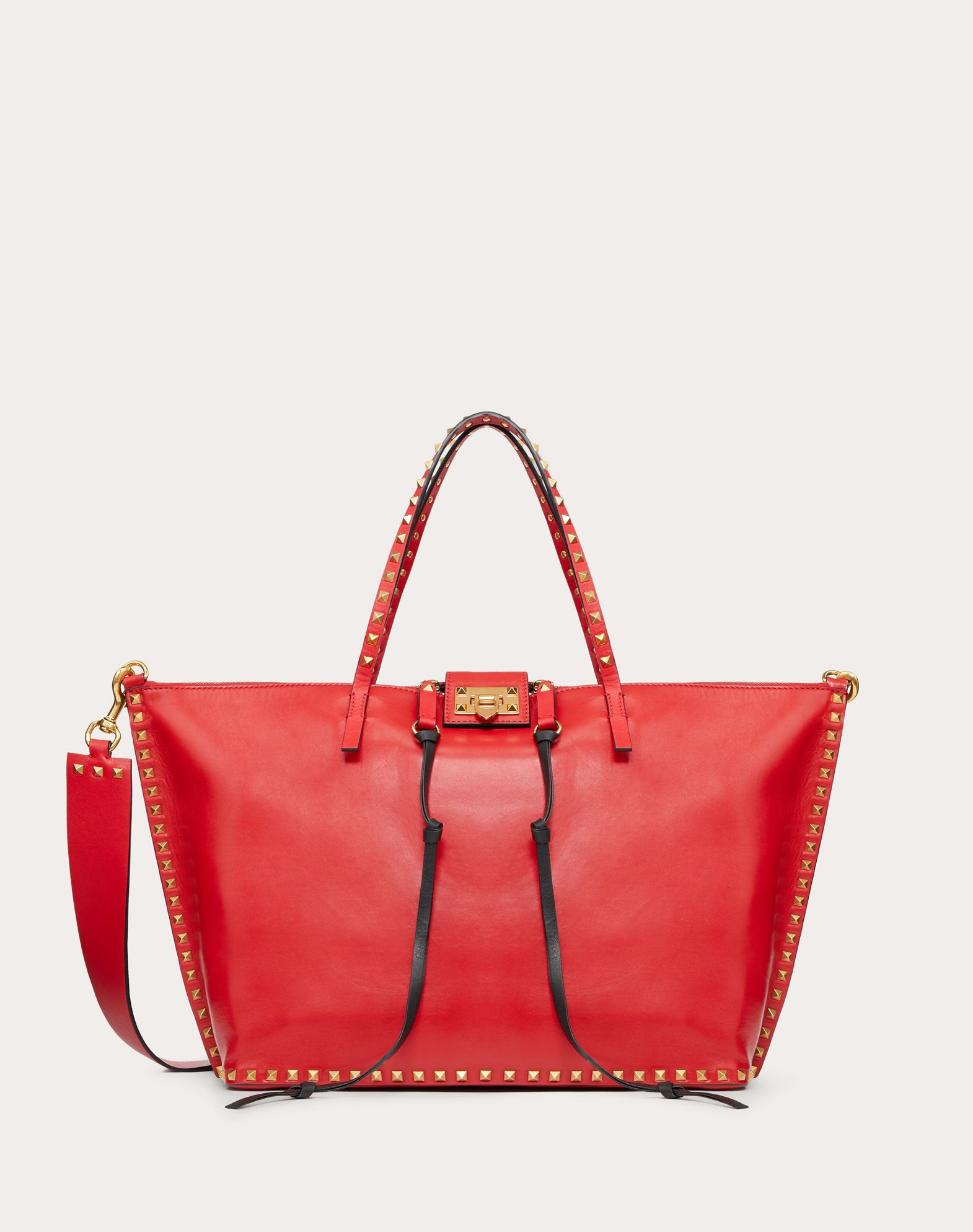 Large Rockstud Hype Smooth Calfskin Tote