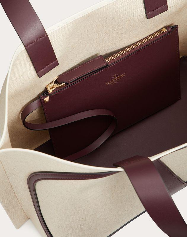 Маленькая сумка-шоппер VLOGO Beach Bag из парусины
