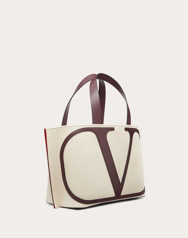Small VLOGO Canvas Beach Bag