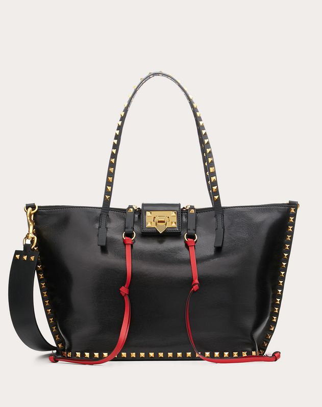 3d6539f4b Medium Rockstud Hype Smooth Calfskin Tote ...