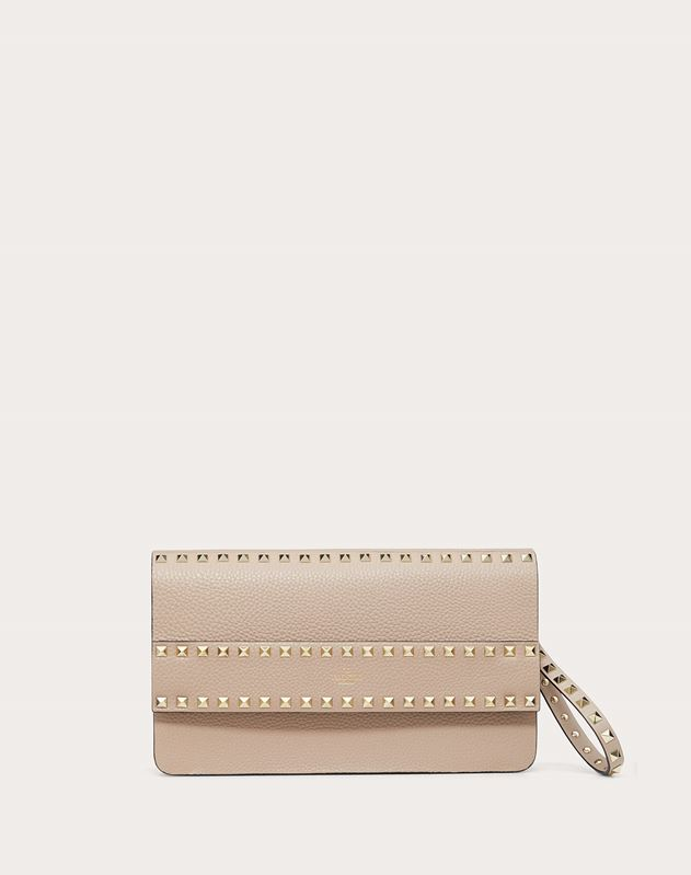 Clutch Rockstud in Vitello Granato
