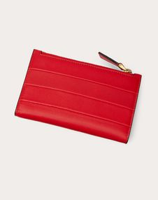 Diary Lines Calfskin Coin Purse and Cardholder