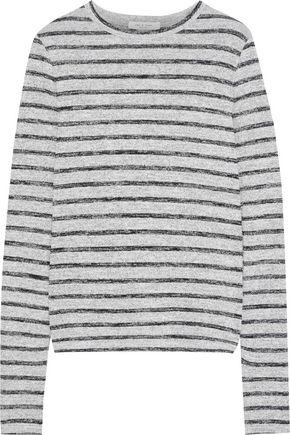 RAG & BONE Striped mélange stretch-jersey top