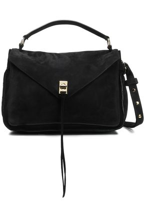 REBECCA MINKOFF Darren pebbled-suede shoulder bag