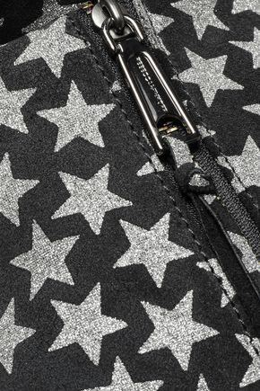 REBECCA MINKOFF Julian convertible glittered suede backpack