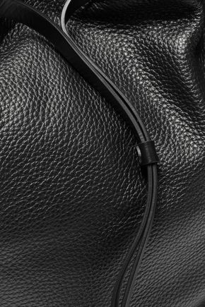 REBECCA MINKOFF Smooth and textured-leather backpack