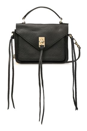 REBECCA MINKOFF Darren textured-leather shoulder bag