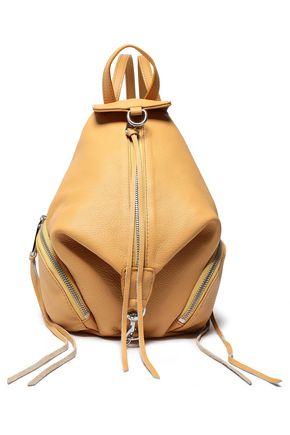 REBECCA MINKOFF Convertible pebbled-leather backpack
