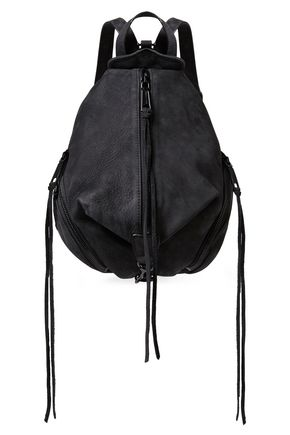 REBECCA MINKOFF Julian convertible textured-suede backpack