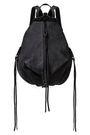 REBECCA MINKOFF Julian convertible textured-suede backpack
