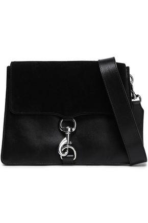 REBECCA MINKOFF MAB suede-paneled leather shoulder bag