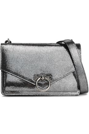 REBECCA MINKOFF Jean metallic pebbled-leather shoulder bag