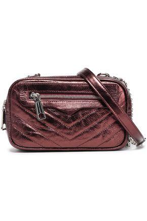 REBECCA MINKOFF Double Zip quilted crinkled-leather shoulder bag