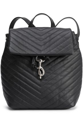 REBECCA MINKOFF Quilted textured-leather backpack