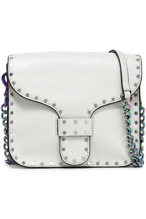 REBECCA MINKOFF Midnight studded leather shoulder bag