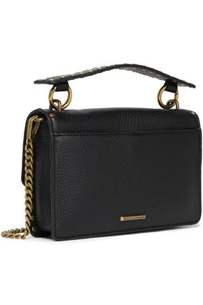 REBECCA MINKOFF Studded textured-leather shoulder bag