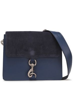 REBECCA MINKOFF MAB suede-paneled leather shoulder bag
