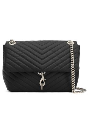 REBECCA MINKOFF Quilted textured-leather shoulder bag