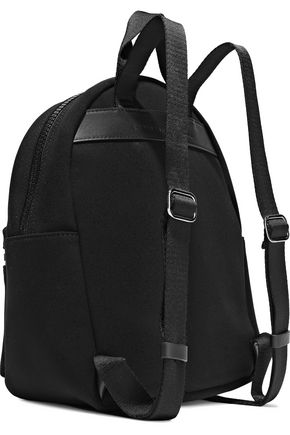 CHRISTOPHER KANE Leather-trimmed buckle-detailed neoprene backpack