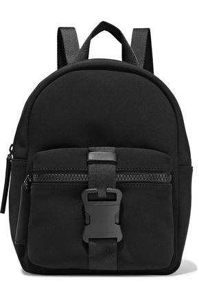 CHRISTOPHER KANE Leather-trimmed buckle-detailed neoprene backpack
