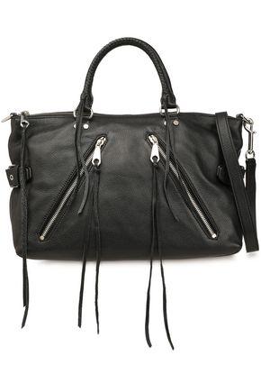 REBECCA MINKOFF Zip-detailed textured-leather shoulder bag