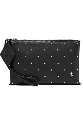 RAG & BONE Dot Dash studded leather pouch
