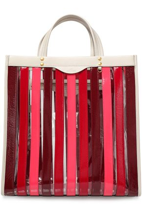 ANYA HINDMARCH | Anya Hindmarch Striped Leather And Pvc Tote | Goxip