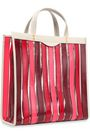 ANYA HINDMARCH Striped leather and PVC tote