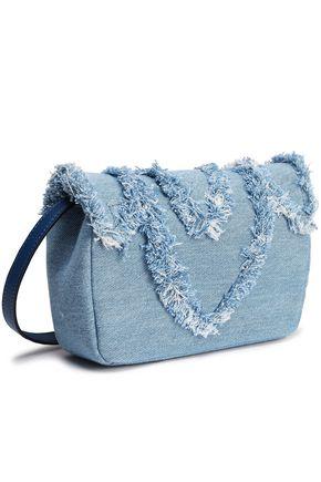 ELENA GHISELLINI Felix mini frayed denim shoulder bag