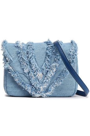 ELENA GHISELLINI Felix mini frayed denim shoulder bag