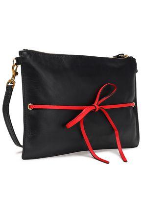 ELENA GHISELLINI Appliquéd leather clutch