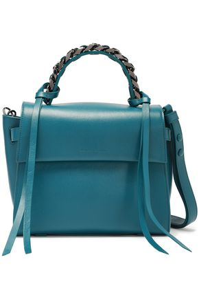 ELENA GHISELLINI Angel small chain-trimmed leather tote