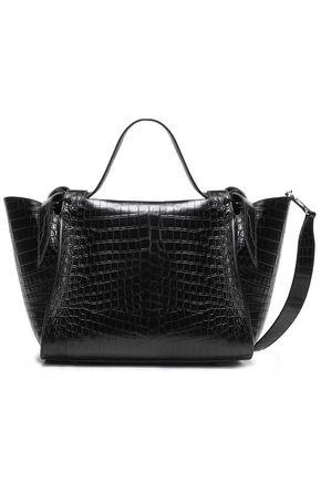 ELENA GHISELLINI Usonia croc-effect leather tote