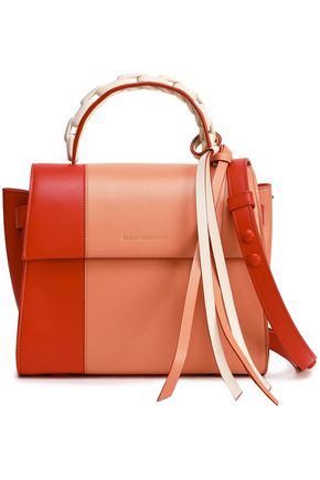 ELENA GHISELLINI Color-block leather shoulder bag