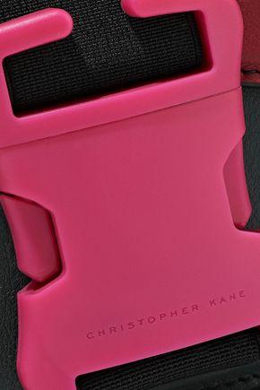 CHRISTOPHER KANE Bonnie color-block leather shoulder bag