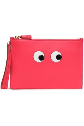 ANYA HINDMARCH Eyes embossed leather pouch