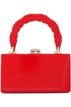 EDIE PARKER Mirror-trimmed acetate clutch