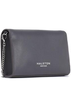 HALSTON HERITAGE Textured-leather clutch