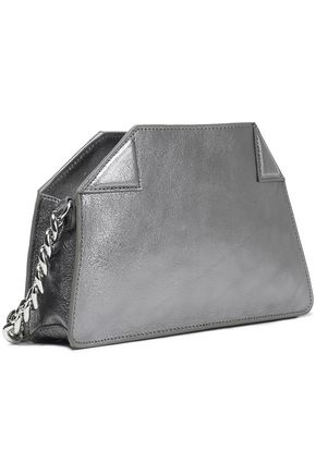 HALSTON HERITAGE Metallic textured-leather shoulder bag