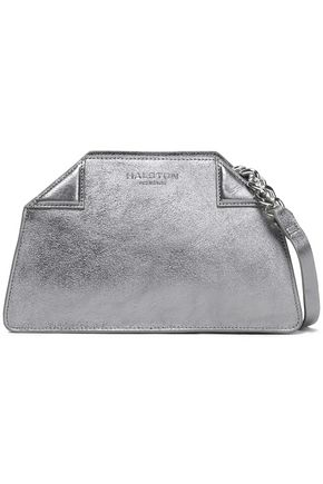 HALSTON HERITAGE Metallic textured-leather shoulder bag