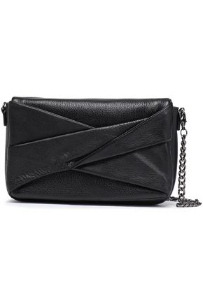 HALSTON HERITAGE Pleated pebbled-leather shoulder bag