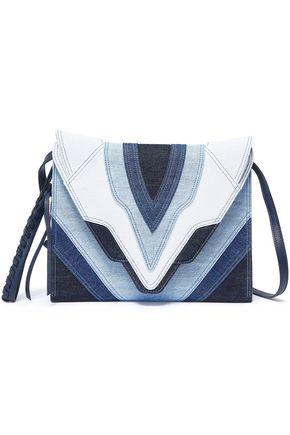 ELENA GHISELLINI Patchwork-effect denim shoulder bag